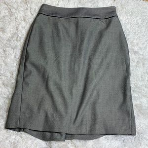 White House Black Market Herringbone Trumpet Skirt